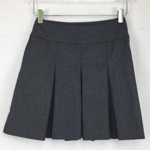 Vintage Grey Pleated School Uniform Mini Skirt 0